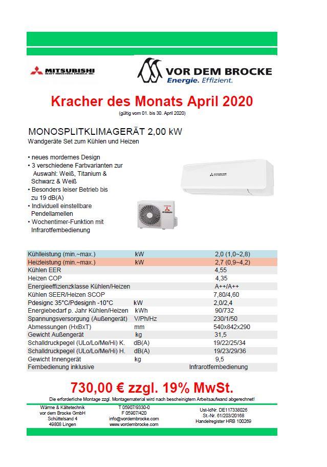 Monatskracher April 2020